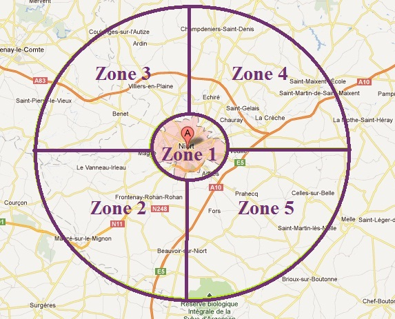 Agence Cpratik Niort - Zones d'intervention
