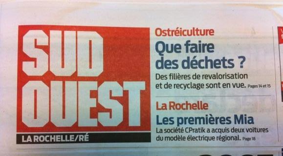 Cliquez sur l'image pour lire l'article du quotidien Sud Ouest du 11 Janvier 2012